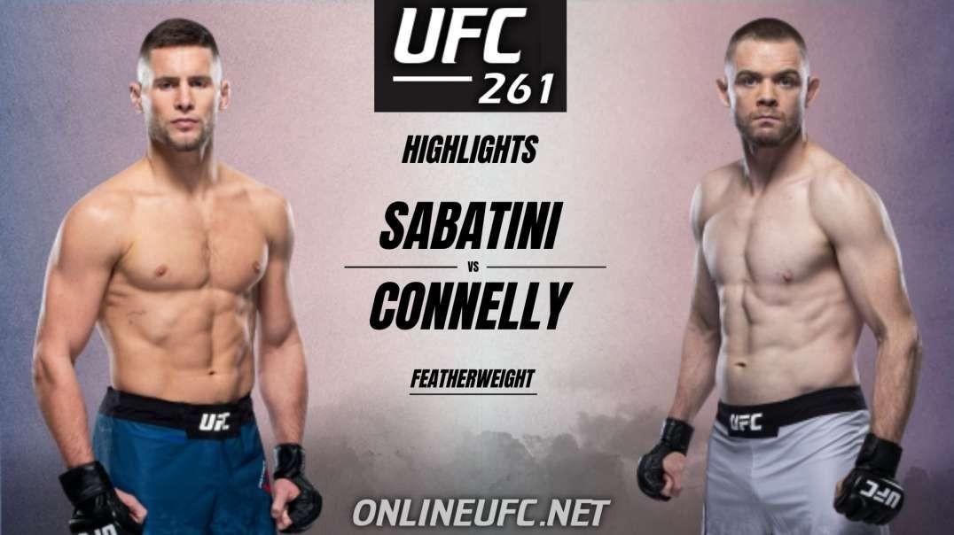 UFC 261 Pat Sabatini vs Tristan Connelly Highlights 2021