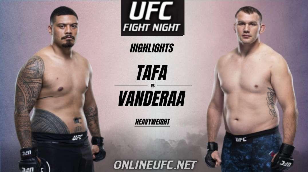 Justin Tafa vs Jared Vanderaa Highlights 2021 UFC