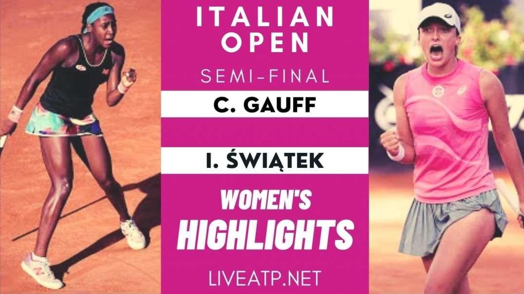Gauff vs Swiatek Italian Open Semifinal WTA Highlights