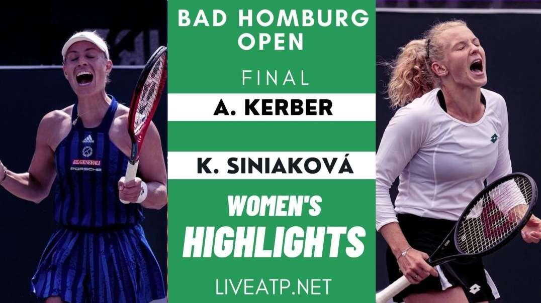 Bad Homburg Open Final Highlights 2021   WTA