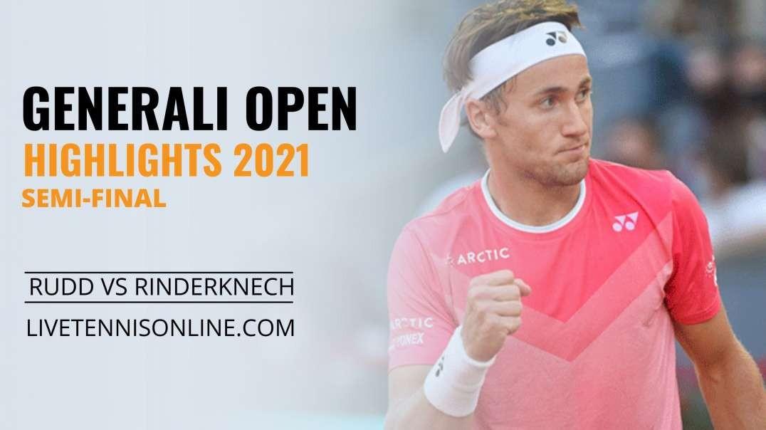 C. Ruud vs A. Rinderknech S-F Highlights 2021 | Generali Open