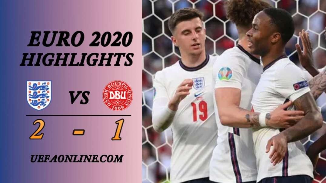 England vs Denmark Highlights   UEFA Euro 2020