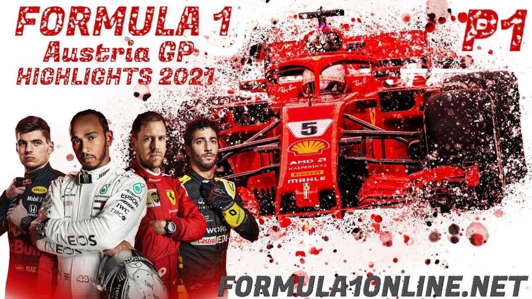 FP1 Austrian Grand Prix Highlights 2021