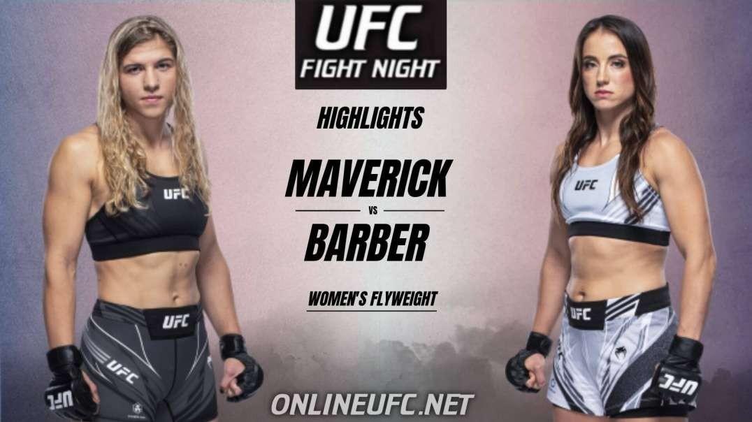 Maverick vs Barber Highlights 2021 | UFC Fight Night