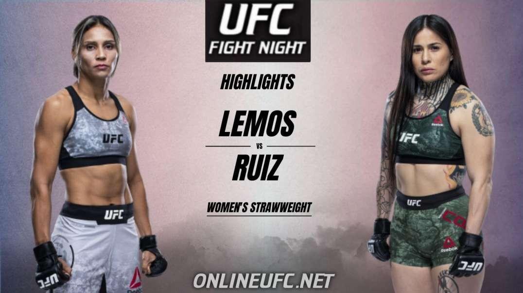 Amanda Lemos vs Montserrat Ruiz Highlights 2021 | UFC Fight Night