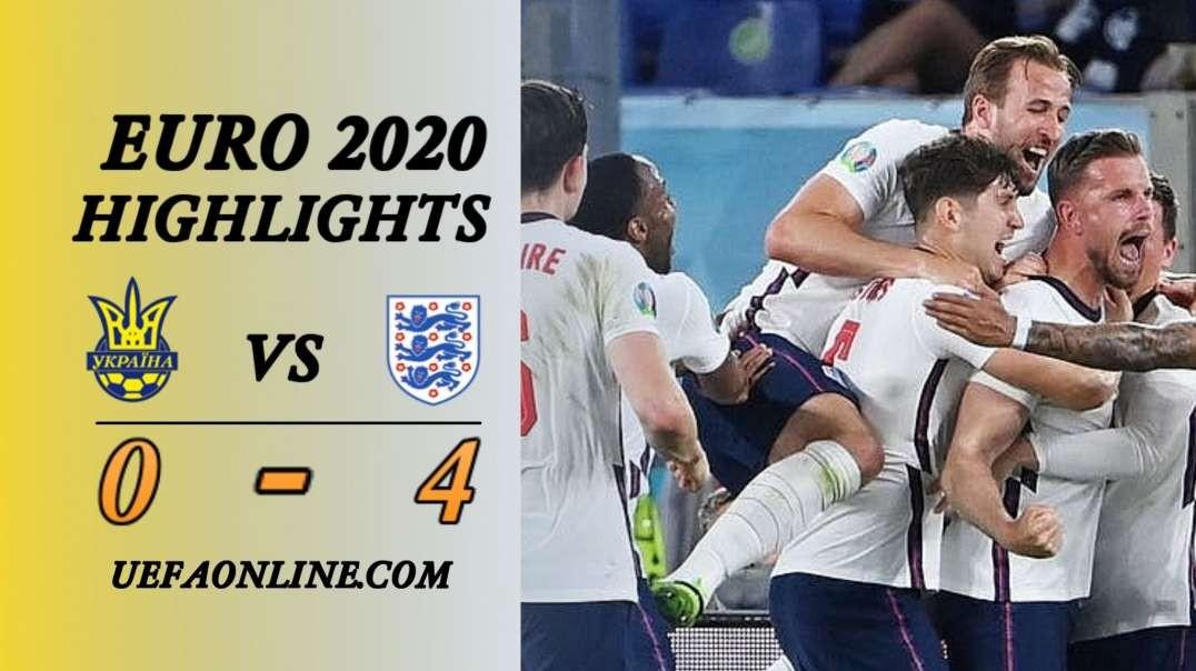Ukraine vs England Highlights   UEFA Euro 2020