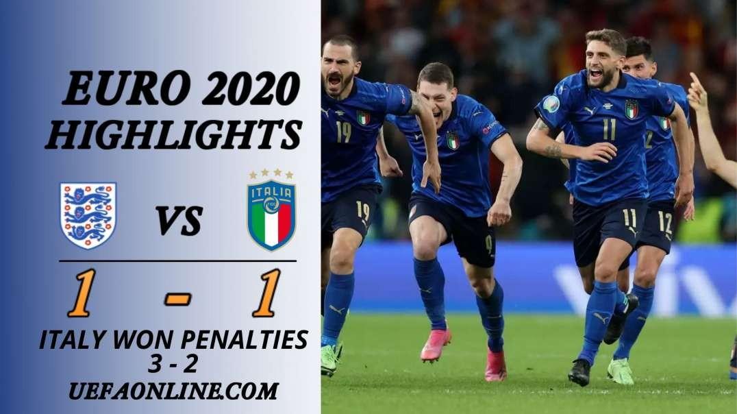 Italy vs England Highlights   UEFA Euro 2020