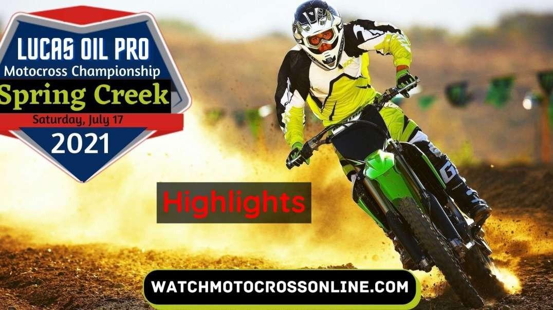 Spring Creek Motocross Highlights 2021