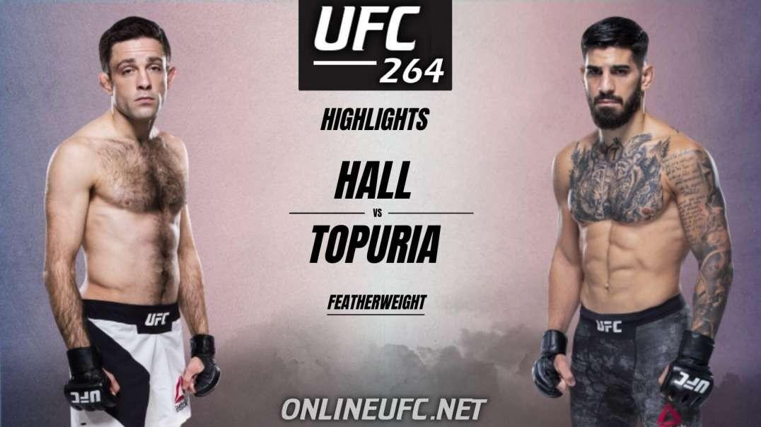 Ryan Hall vs Ilia Topuria Highlights 2021 | UFC 264