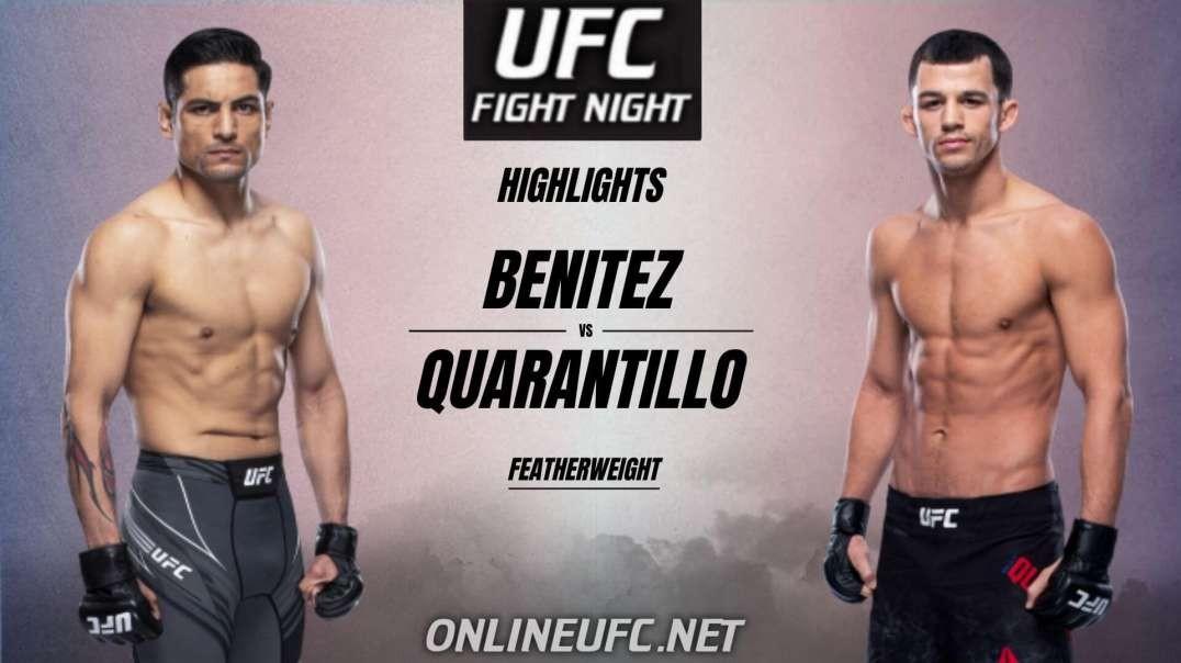 Gabriel Benitez vs Billy Quarantillo Highlights 2021 | UFC Fight Night