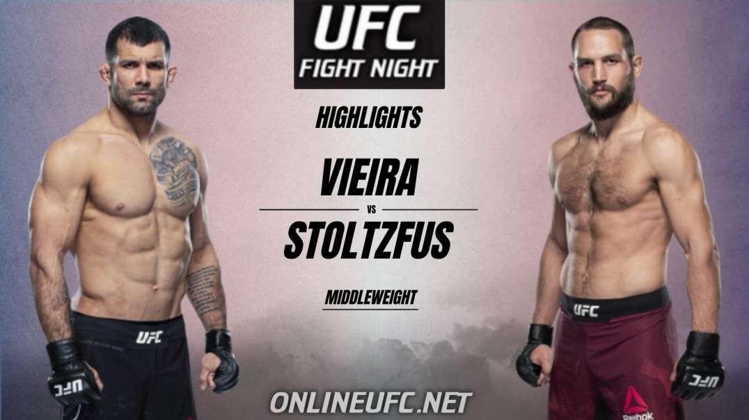 Rodolfo Vieira vs Dustin Stoltzfus Highlights 2021 | UFC Fight Night