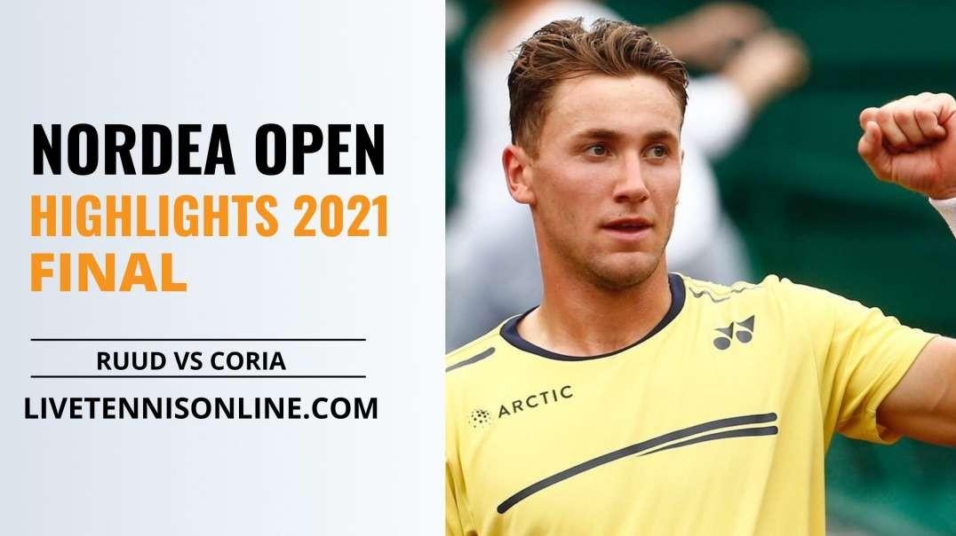 C. Ruud vs F. Coria Final Highlights 2021 | Nordea Open