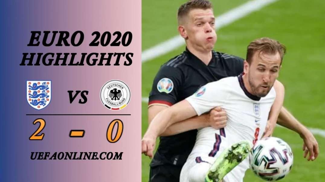 England vs Germany Highlights   UEFA Euro 2020