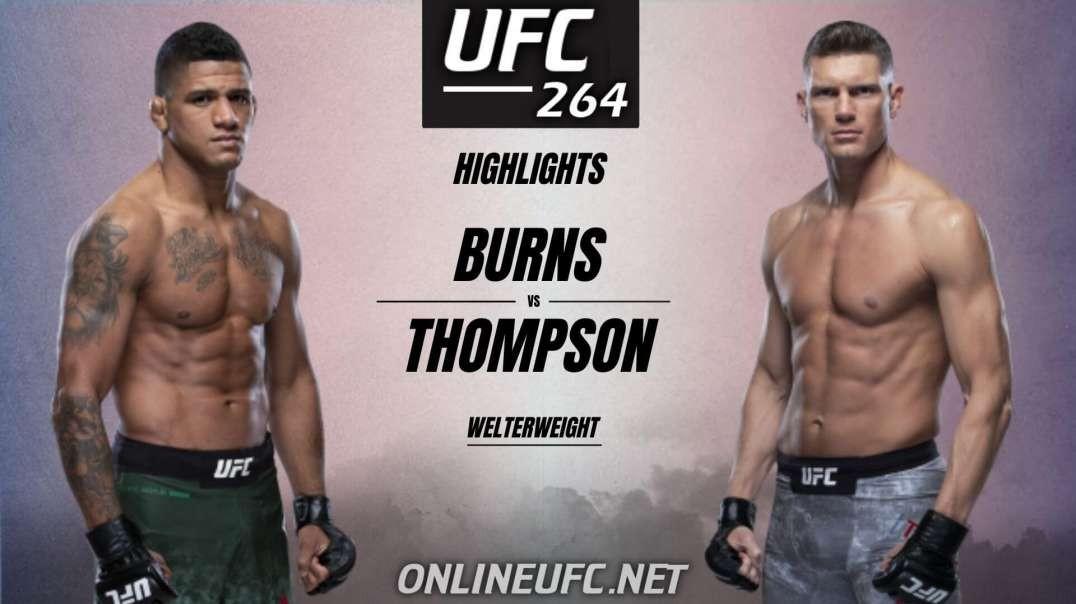 Gilbert Burns vs Stephen Thompson Highlights 2021   UFC 264
