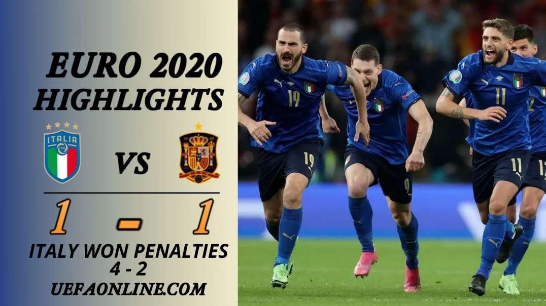 Italy vs Spain Highlights   UEFA Euro 2020