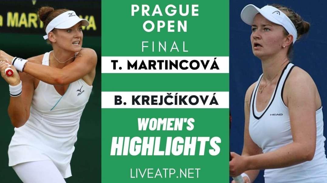 Prague Open Final Highlights 2021 | WTA