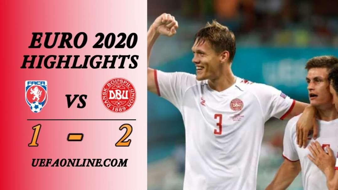 Czech vs Denmark Highlights   UEFA Euro2020