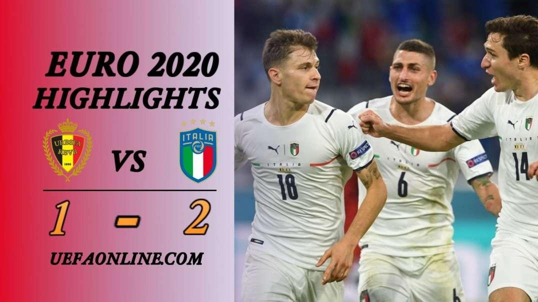 Belgium vs Italy Highlights   UEFA Euro 2020