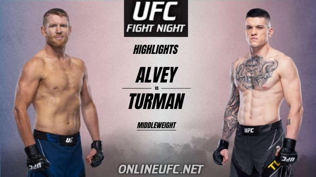 Sam Alvey vs Wellington Turman Highlights 2021 | UFC Fight Night