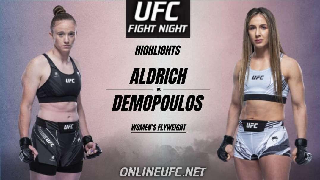 JJ Aldrich vs Vanessa Demopoulos Highlights 2021 | UFC Fight Night