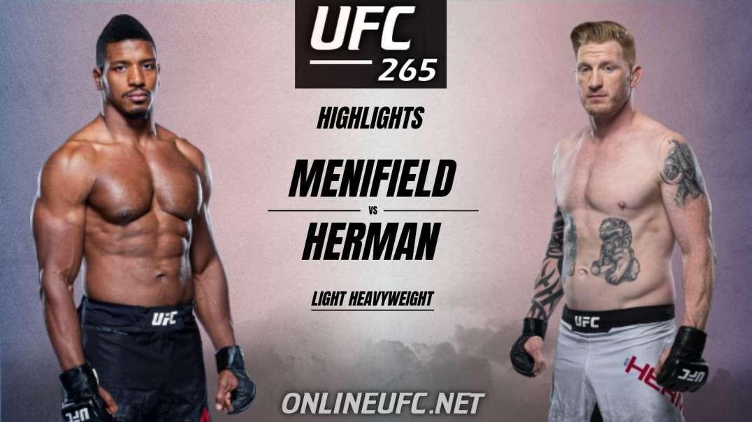 Alonzo Menifield vs Ed Herman Highlights 2021 | UFC 265