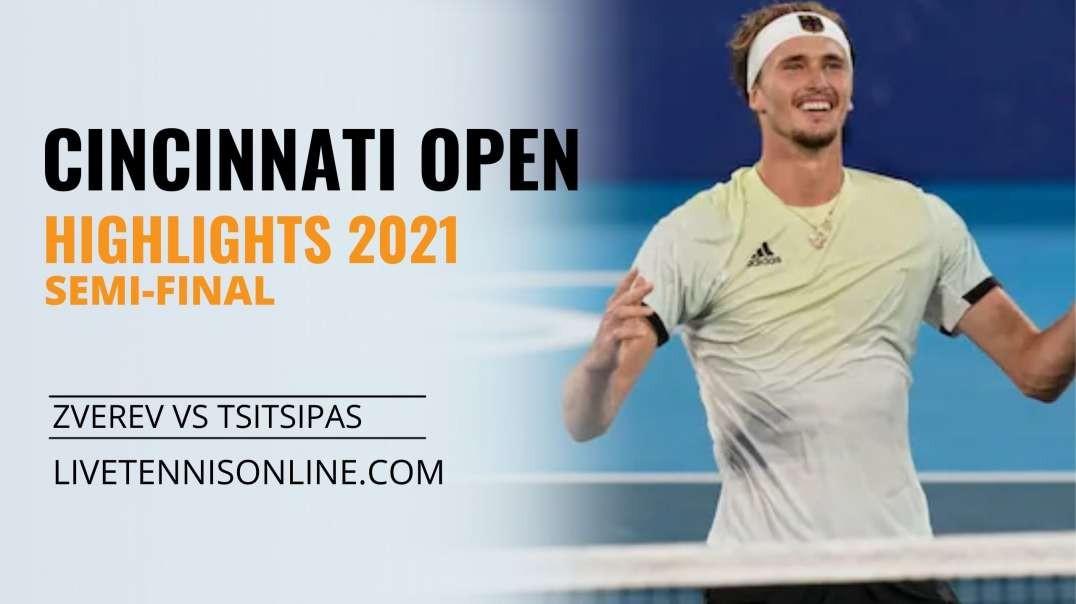 A. Zverev vs S. Tsitsipas S-F Highlights 2021 | W&S Open
