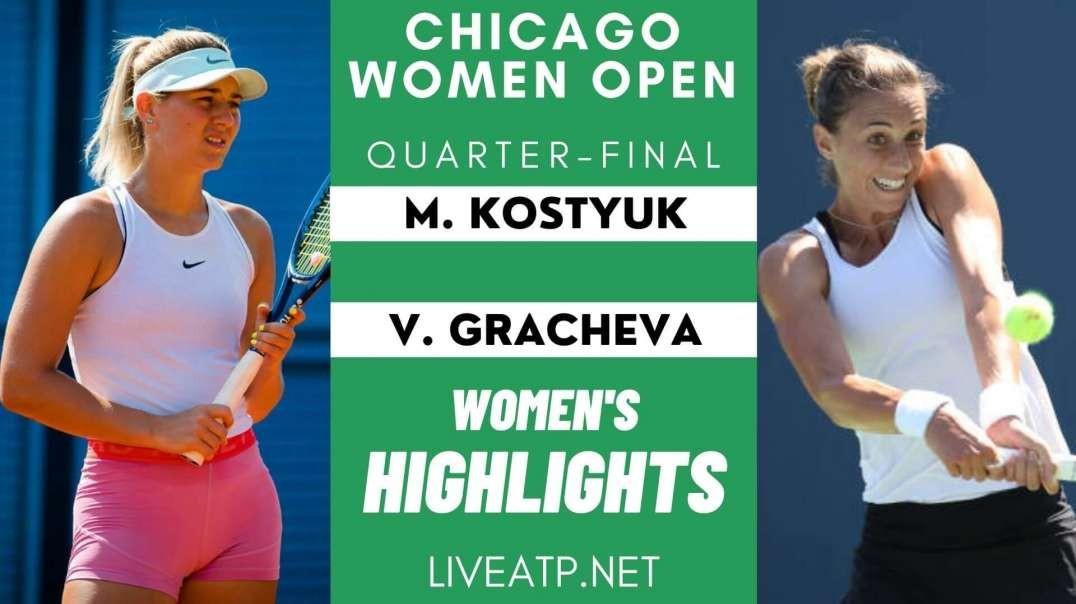 M.Kostyuk vs V.Gracheva Q-F Highlights 2021 | Chicago Open