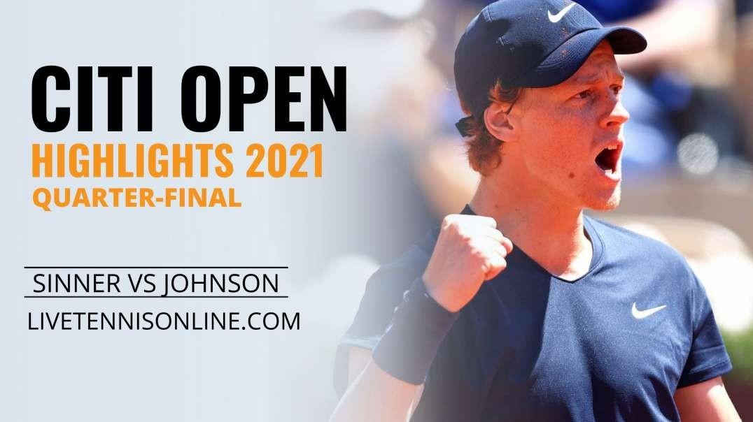J. Sinner vs S. Johnson Q-F Highlights 2021 | Citi Open