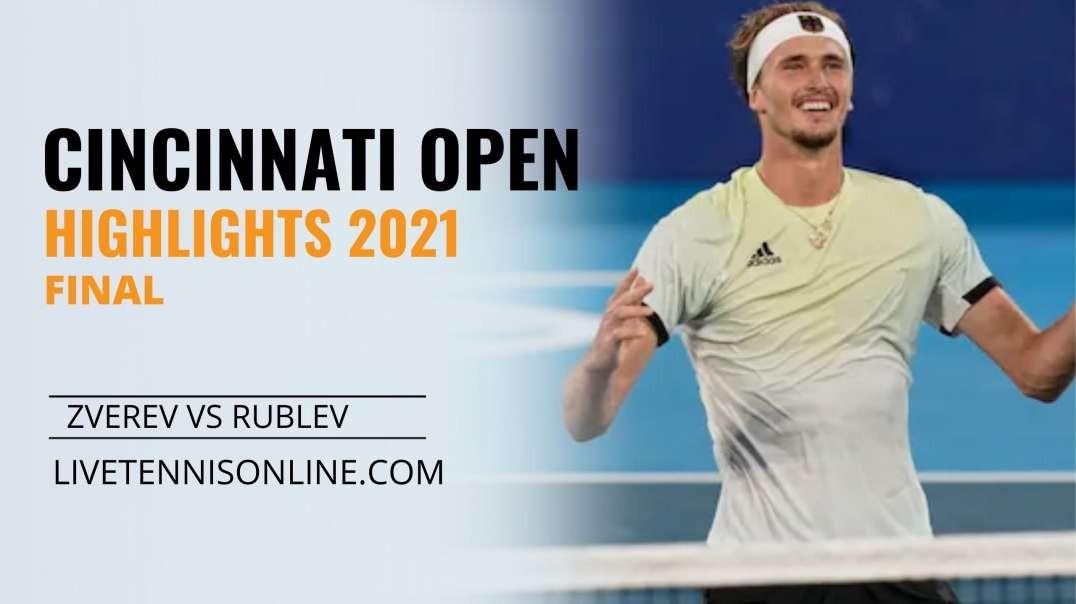A. Zverev vs A. Rublev Final Highlights 2021 | W&S Open