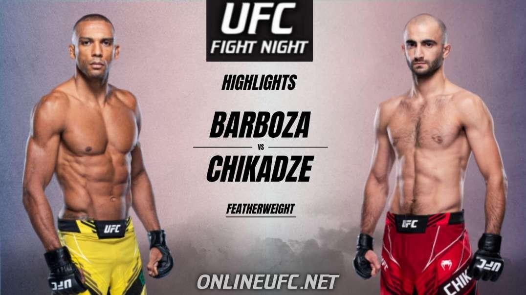 Edson Barboza vs Giga Chikadze Highlights 2021 | UFC Fight Night