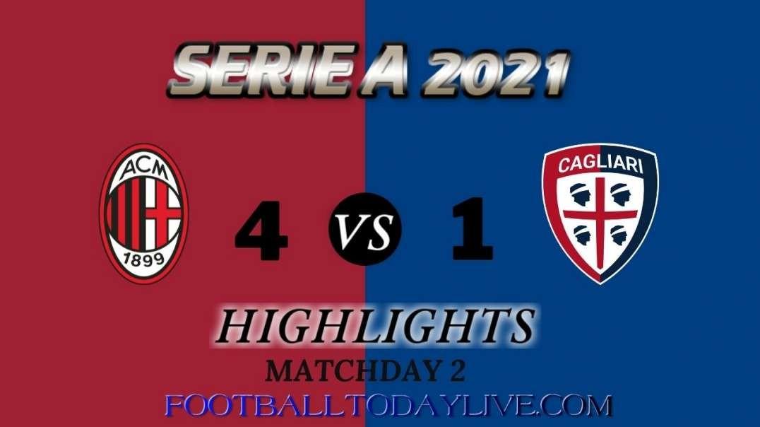 Milan vs Cagliari Highlights 2021 | Serie A Week 2