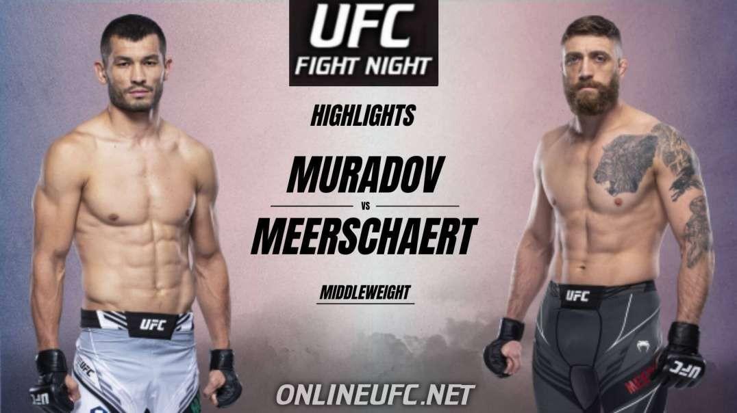 Makhmud Muradov vs Gerald Meerschaert Highlights 2021 | UFC Fight Night