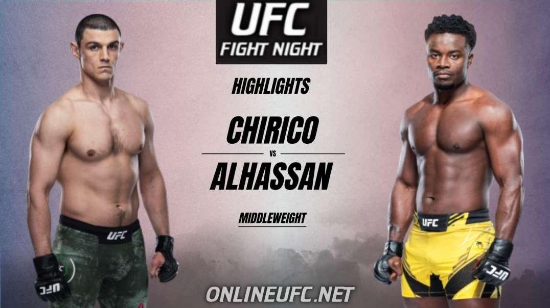 Alessio Chirico vs Abdul Alhassan Highlights 2021 | UFC Fight Night