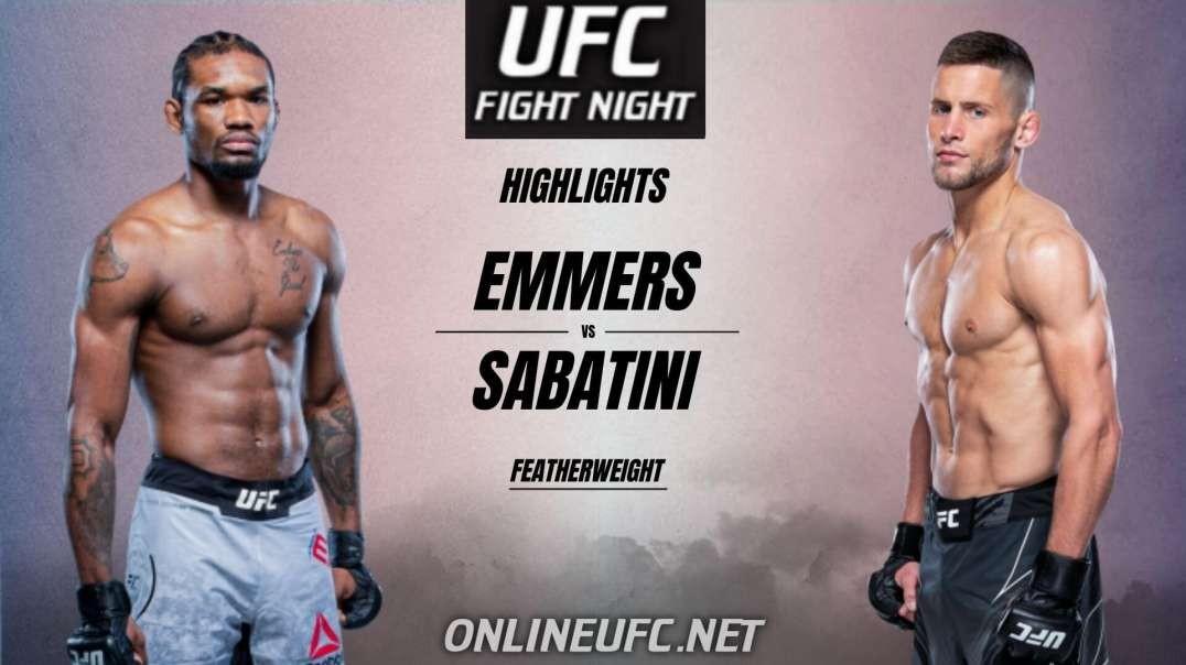 Jamall Emmers vs Pat Sabatini Highlights 2021   UFC Fight Night