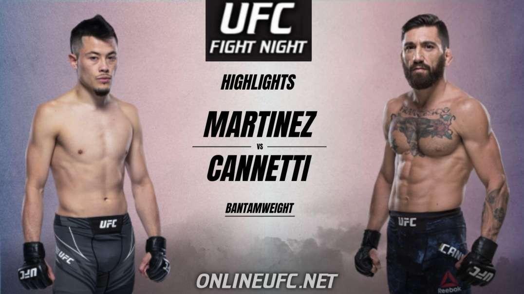 Mana Martinez vs Guido Cannetti Highlights 2021   UFC Fight Night