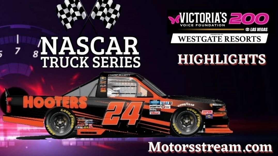 NASCAR Victoria's Voice Foundation 200 Highlights 2021   Truck Series