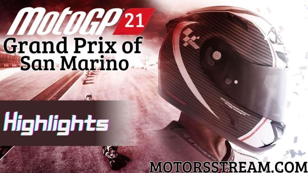 San Marino Motorcycle Grand Prix Highlights 2021