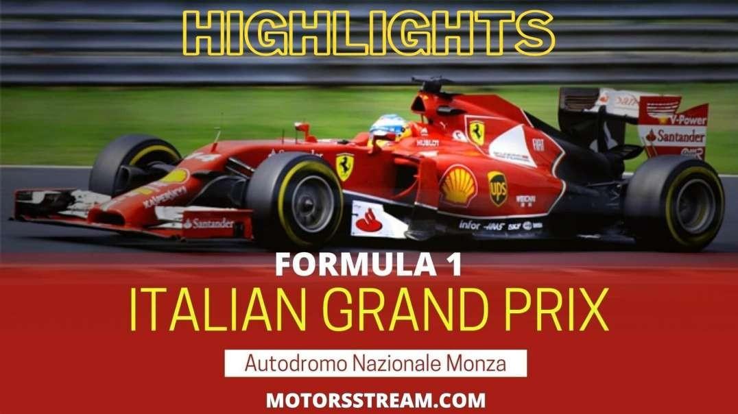 Italian GP Highlights 2021 Formula 1