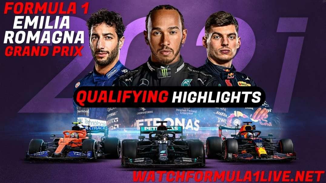 Qualifying Emilia Romagna Grand Prix Highlights 2021