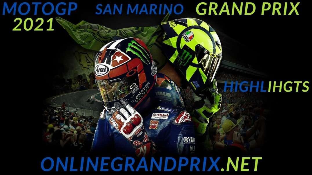 MotoGP San Marino Grand Prix Highlights 2021