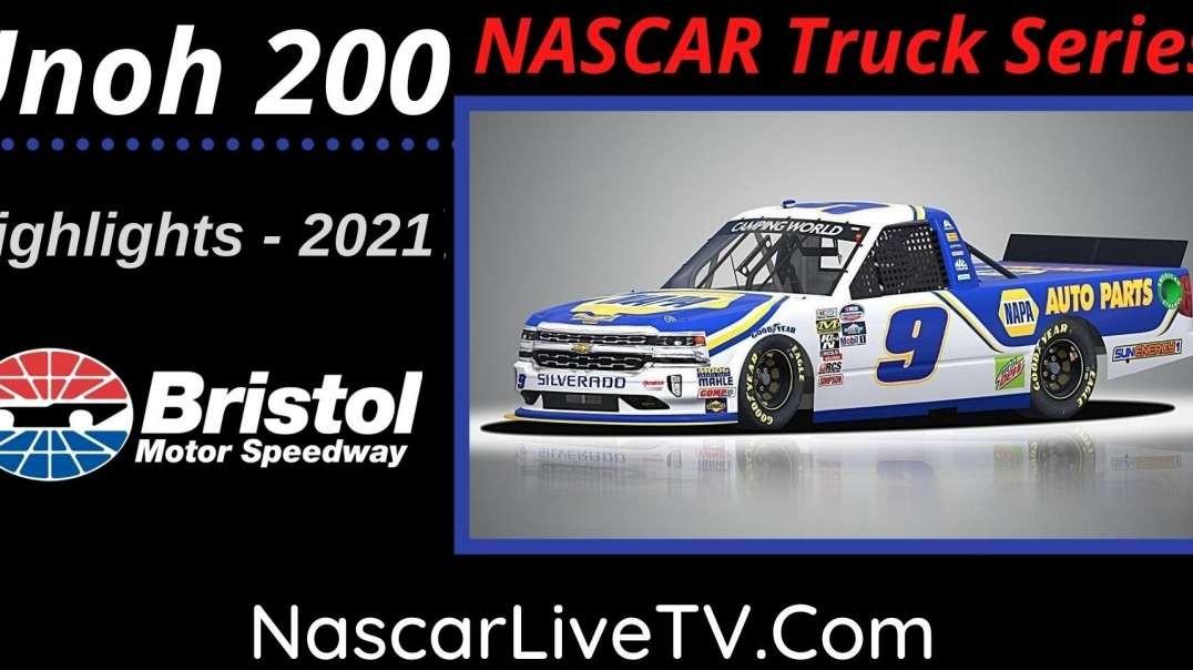 UNOH 200 Highlights NASCAR Truck Series 2021
