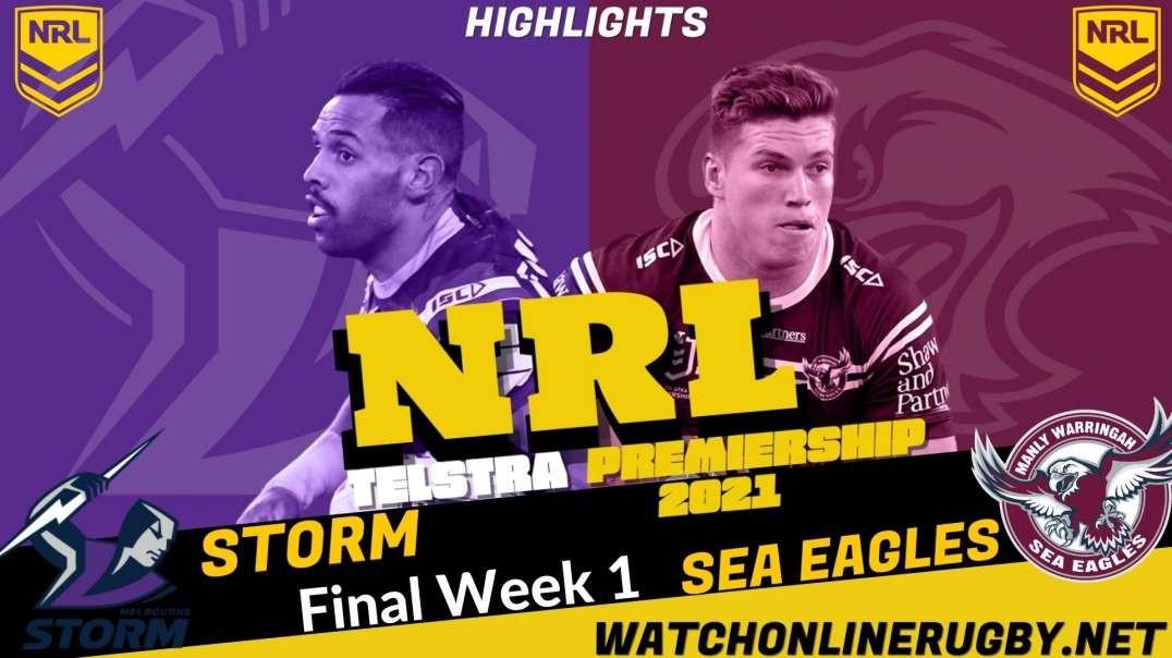 Storm vs Sea Eagles final week 1 Highlights 2021 NRL Rugby