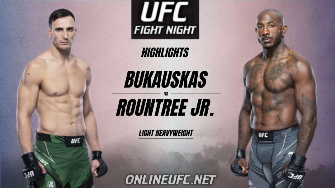 Bukauskas Vs Rountree Highlights 2021 | UFC Fight Night