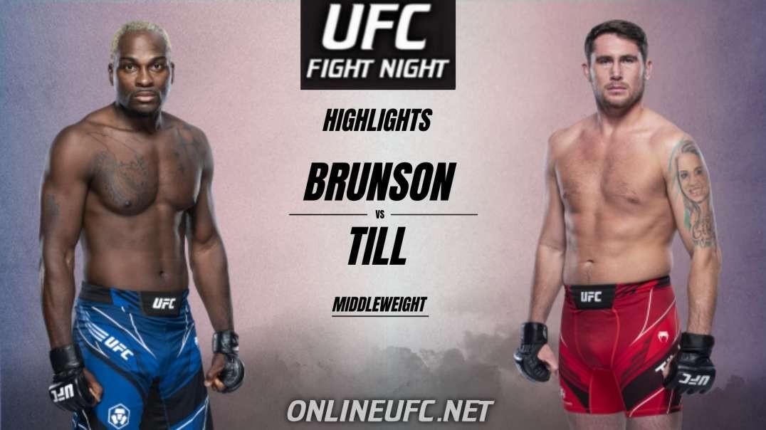 Derek Brunson vs Darren Till Highlights 2021 | UFC Fight Night