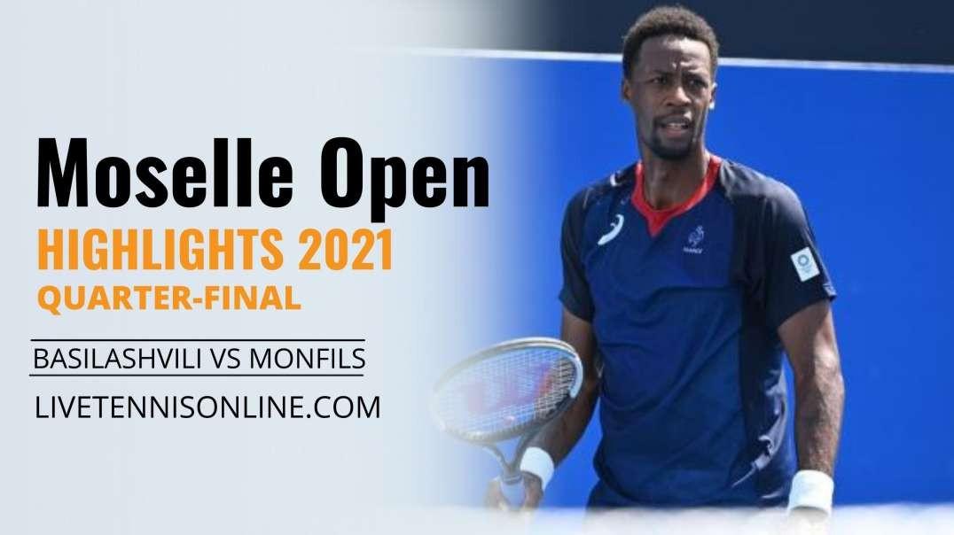N. Basilashvili vs G. Monfils Q-F Highlights 2021   Moselle Open