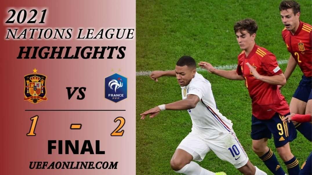 Spain vs France Highlights Final 2021 | Nations League
