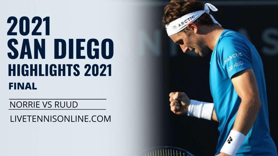 C. Norrie vs C. Ruud Final Highlights 2021 | San Diego Open