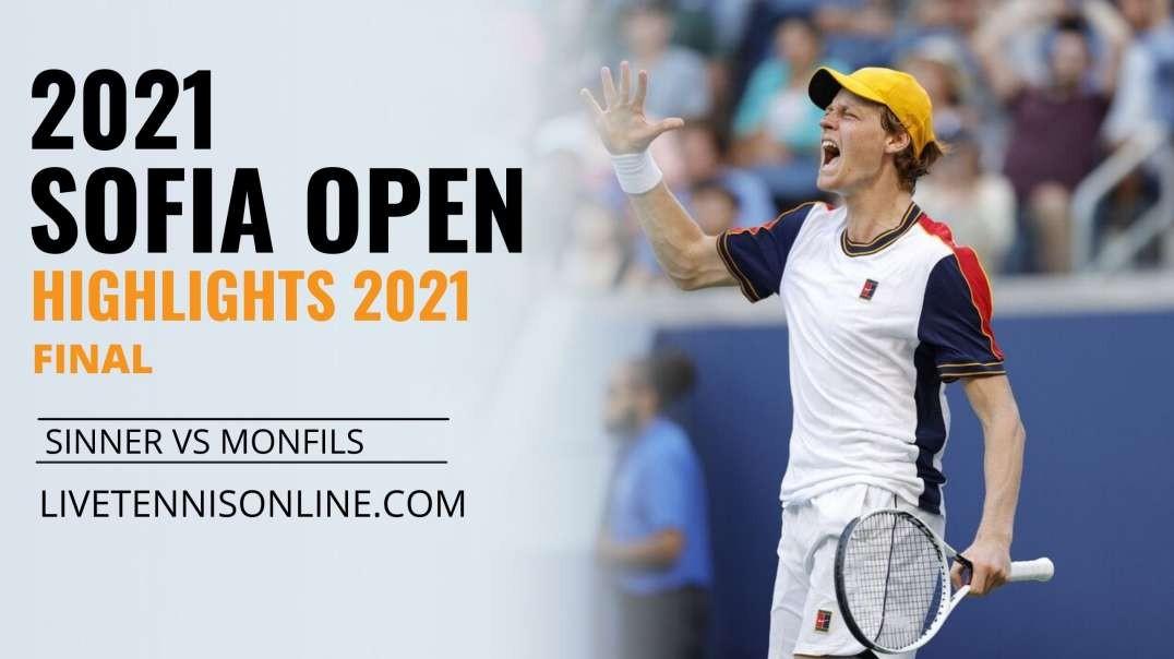 J. Sinner vs G. Monfils Final Highlights 2021   Sofia Open