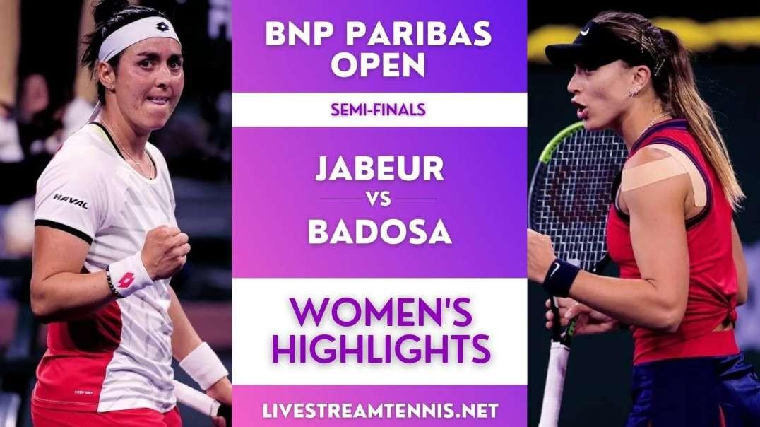 BNP Paribas Open Women Semi-Final 1 Highlights 2021