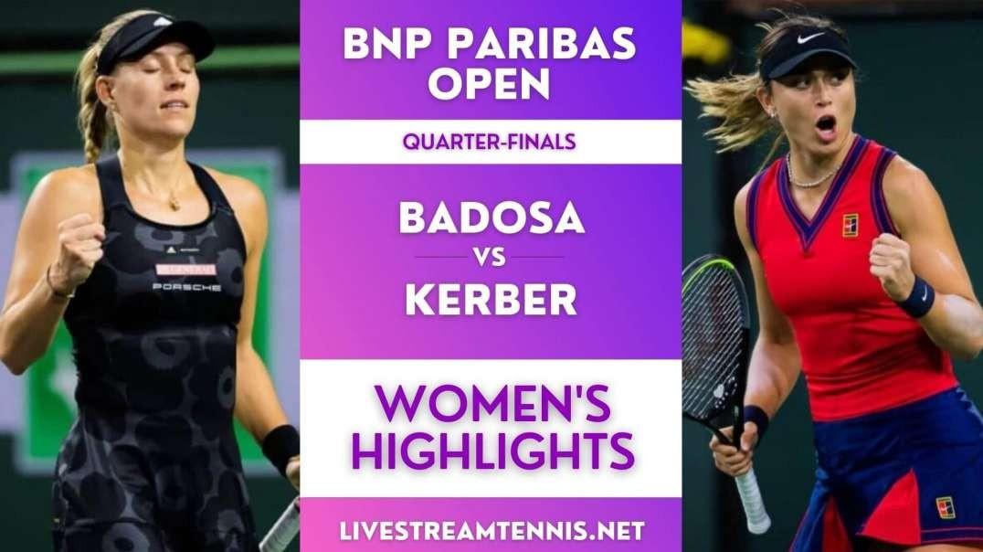 BNP Paribas Open Women Quarter-Final 3 Highlights 2021